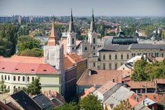 Vista de la ciudad vieja de Esztergom Fotografía de archivo