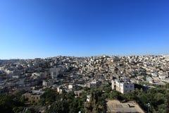 Vista de la ciudad vieja de Hebrón del teléfono Rumeida Fotografía de archivo libre de regalías