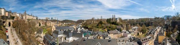 Vista de la ciudad vieja de Luxemburgo Imágenes de archivo libres de regalías