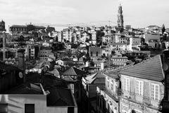 Vista de la ciudad vieja de Oporto, Portugal Fotos de archivo libres de regalías