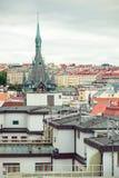 Vista de la ciudad vieja de Praga Foto de archivo libre de regalías