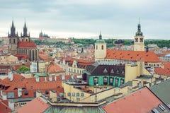 Vista de la ciudad vieja de Praga Imagenes de archivo
