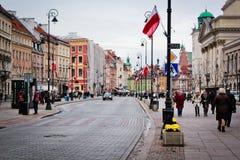 Vista de la ciudad vieja de Varsovia Imagen de archivo libre de regalías