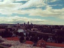 Vista de la ciudad vieja de Vilna Imágenes de archivo libres de regalías