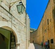 Vista de la ciudad vieja Dubrovnik, Croacia Fotografía de archivo libre de regalías