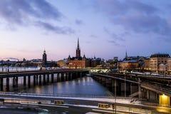 Vista de la ciudad vieja Gamla Stan en Estocolmo suecia Fotos de archivo