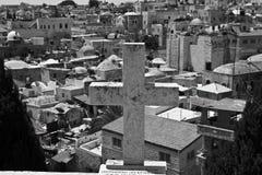 Vista de la ciudad vieja de Jerusalén Foto de archivo