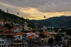 Vista de la ciudad vieja de Tbilisi Foto de archivo libre de regalías