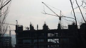 Vista de la construcción de edificios metrajes