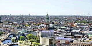 Vista de la Copenhague, Dinamarca imagenes de archivo