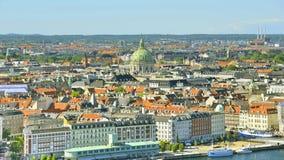 Vista de la Copenhague, Dinamarca imagen de archivo