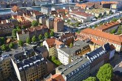Vista de la Copenhague, Dinamarca fotografía de archivo