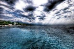 Vista de la costa Imagen de archivo libre de regalías