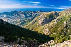 Vista de la costa corsa Imagen de archivo libre de regalías