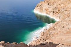 Vista de la costa costa del mar muerto Fotografía de archivo
