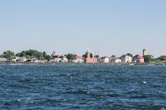 Vista de la costa Darlowek Fotografía de archivo libre de regalías