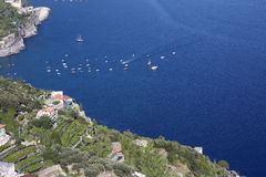 Vista de la costa de Amalfi Imagenes de archivo