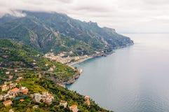 Vista de la costa de Amalfi Fotografía de archivo