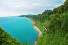 Vista de la costa de mar imagen de archivo