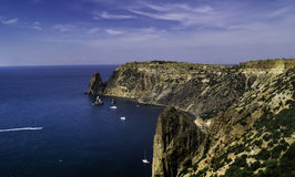 Vista de la costa costa del Mar Negro Imagen de archivo
