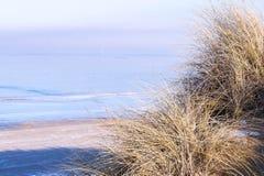 Vista de la costa en invierno Imagenes de archivo