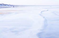 Vista de la costa en invierno Imágenes de archivo libres de regalías
