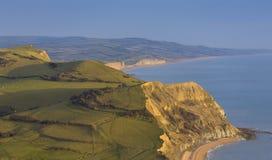 Vista de la costa jurásica Imagen de archivo libre de regalías