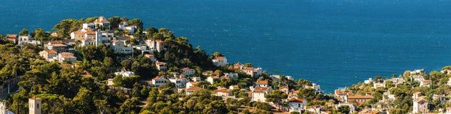 Vista de la costa costa de Marsella Imagen de archivo