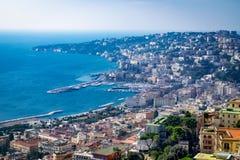 Vista de la costa de Nápoles, Italia foto de archivo libre de regalías