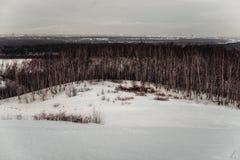 Vista de la cuesta del esquí Fotografía de archivo libre de regalías
