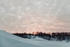 Vista de la cuesta del esquí Foto de archivo