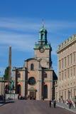 Vista de la cuesta del palacio de Estocolmo Fotografía de archivo libre de regalías
