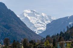 Vista de la cumbre de Jungfrau Fotos de archivo libres de regalías