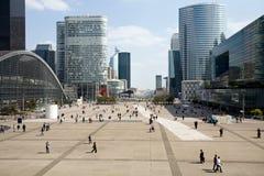 Vista de la defensa del La, París Foto de archivo libre de regalías
