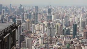 Vista de la escena urbana en Shangai, Shangai, China almacen de metraje de vídeo
