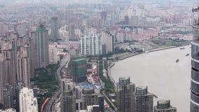 Vista de la escena urbana en Shangai, Shangai, China metrajes