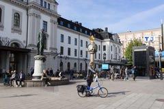 Vista de la estación de la central de Estocolmo Fotografía de archivo