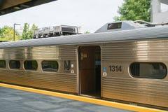 Vista de la estación de tren de Princeton imágenes de archivo libres de regalías