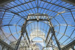 Palacio de Cristal Foto de archivo libre de regalías