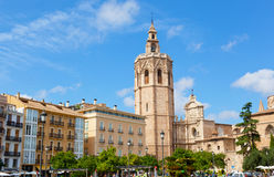 Vista de la fachada de la iglesia de la catedral valencia Imagenes de archivo