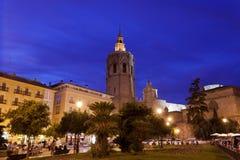 Vista de la fachada de la iglesia de la catedral valencia Fotos de archivo libres de regalías
