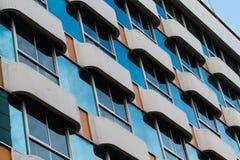Vista de la fachada del hotel Imagenes de archivo