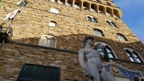 Vista de la fachada de Palazzo Vecchio, Florencia, Toscana, Italia imagen de archivo libre de regalías