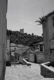 Vista de la fortaleza de Alhambra Imágenes de archivo libres de regalías