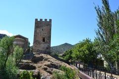 Vista de la fortaleza Genoese Imagen de archivo libre de regalías