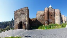 Vista de la fortaleza de Narikala Fotos de archivo libres de regalías