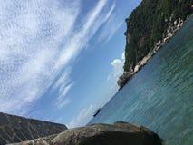 Vista de la fotografía Koh Tao Thailand de la playa de la isla del paraíso Imagen de archivo
