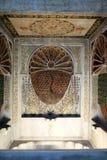 Vista de la fuente del pavo real Imagen de archivo