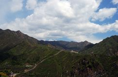 Vista de la Gran Muralla de China Fotos de archivo