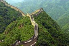 Vista de la gran pared china Imagenes de archivo